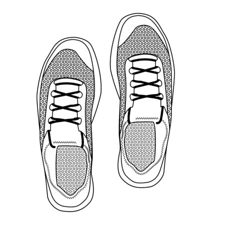 Running Shoes. Top View