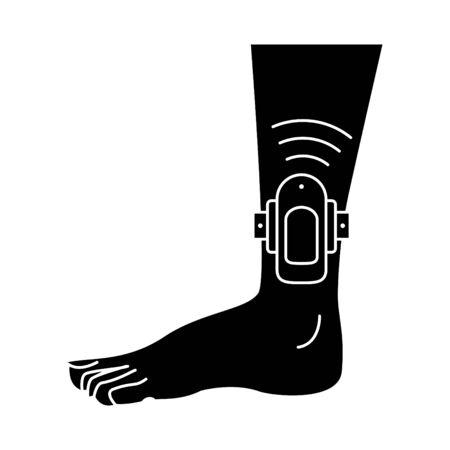 Ankle monitor icon Vetores