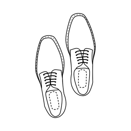 Man shoes top view.