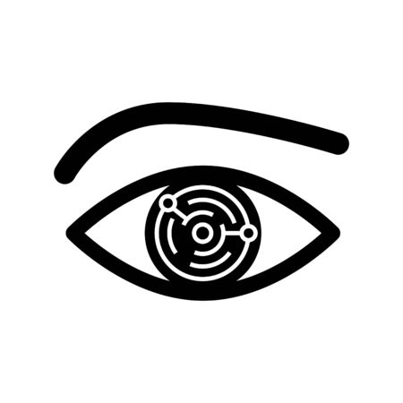 electronic cyber eye icon, Artificial Intelligence icon