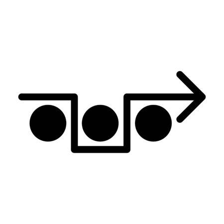 avoiding icon, vector illustration