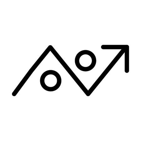 icône en évitant, illustration vectorielle
