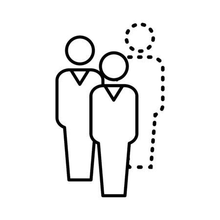 absentees icon, vector illustration 向量圖像