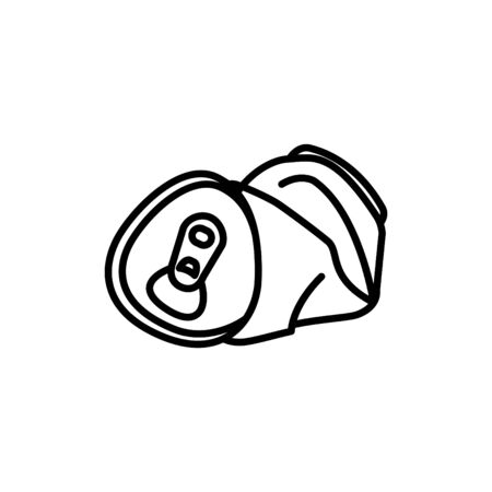 Crushed can icon