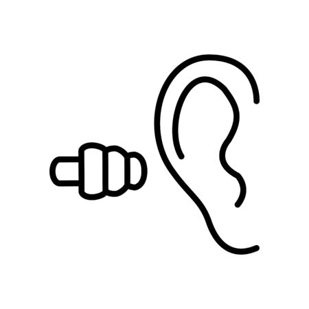 earplug icon, vector illustration 矢量图像