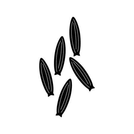 cumin icon, vector illustration Vektoros illusztráció