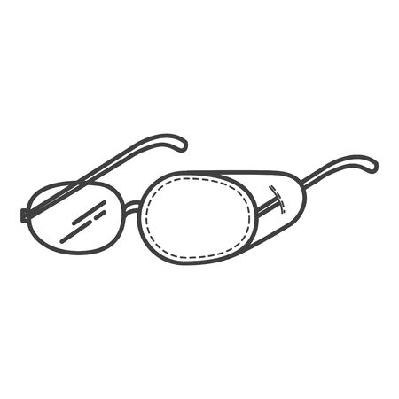Eye Patch mask icon, Glasses Cover. Amblyopia icon  イラスト・ベクター素材