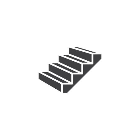 Stairs icon, line vector illustration
