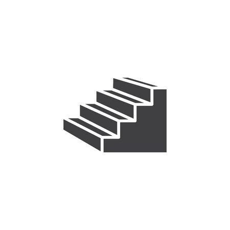 Stairs icon, line vector illustration Ilustracja