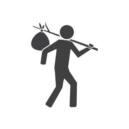 Bindle icon, vector line illustration Illustration