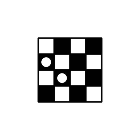 Checkers game icon, vector illustration