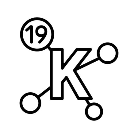 Potassium icon, vector line illustration Illustration