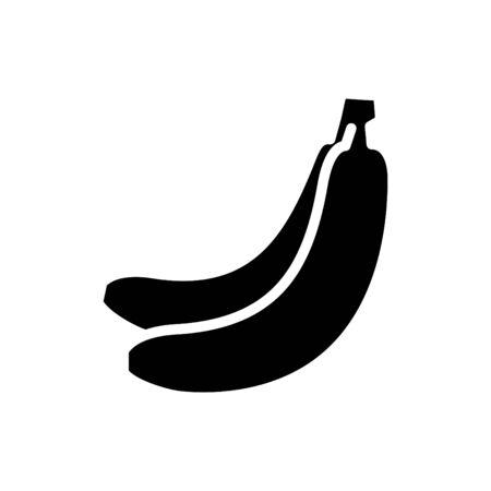 Banana icon, vector line illustration