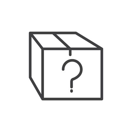 Mystery box icon, vector illustration