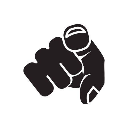 Wir wollen Sie, Symbol für die Vektorlinienillustration Vektorgrafik