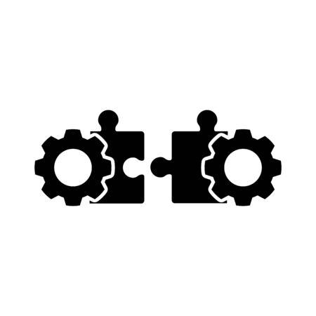 Unternehmen zusammenführen, auf ein Symbol ausrichten Vektorgrafik