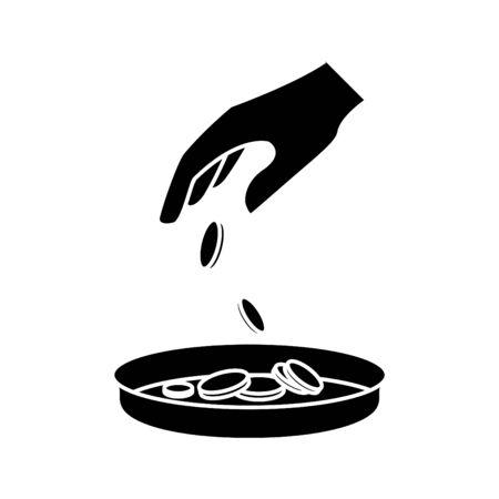 Poverty icon, vector line illustration.