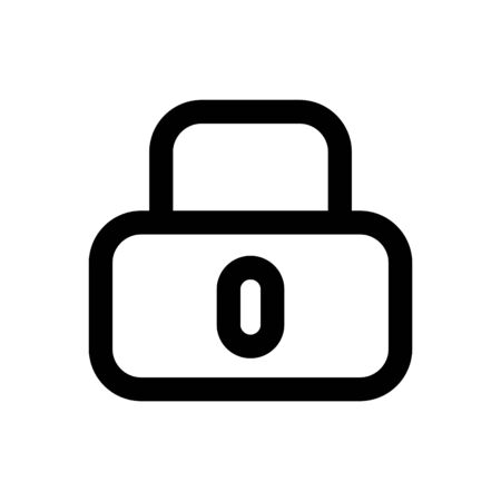 Lock icon, vector line illustration