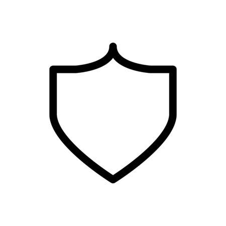 shield icon, vector line illustration