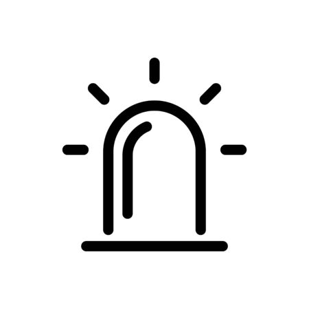 alarm icon, vector line illustration Stock Illustratie