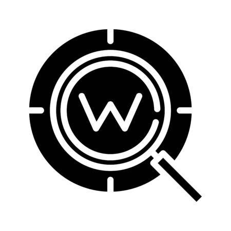keyword icon, vector line illustration
