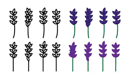 Lavender icon, vector line illustration