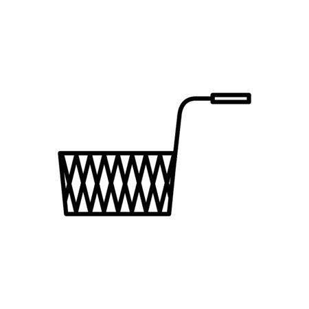 aucune icône de nourriture frite, illustration vectorielle Vecteurs