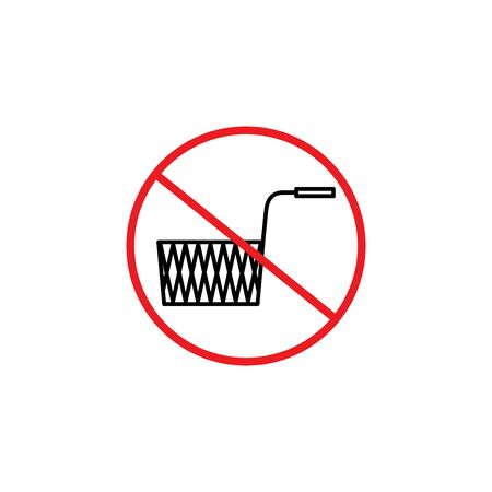 no fried food icon, vector illustration