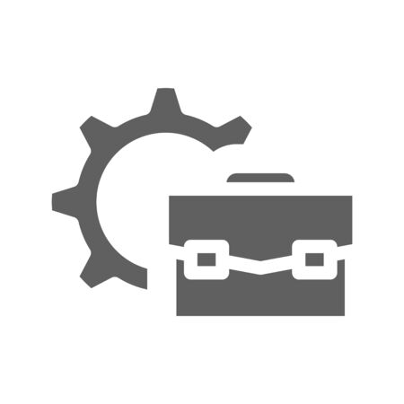 Work experience icon, vector illustration