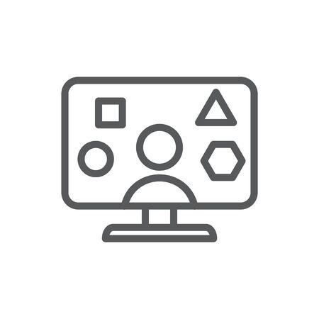 Additional skills icon, vector illustration Vektorgrafik