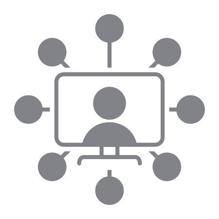Additional skills icon, vector illustration