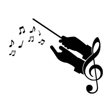 musique de guide de choeur, illustration vectorielle Vecteurs