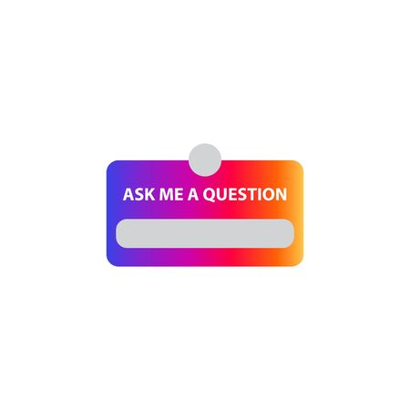 ask me a question, vector illustration