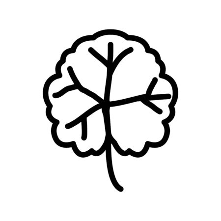Geranium icon, vector line illustration
