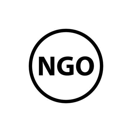 NGO icon, vector line illustration