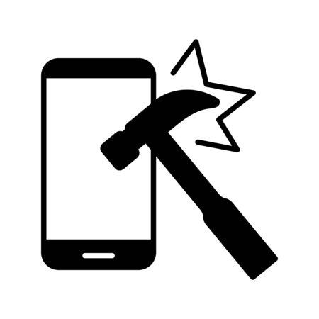 Indestructible icon, vector line illustration