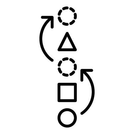 proactive Icon, vector line illustration Illustration