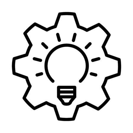 proactief pictogram, lijn vectorillustratie