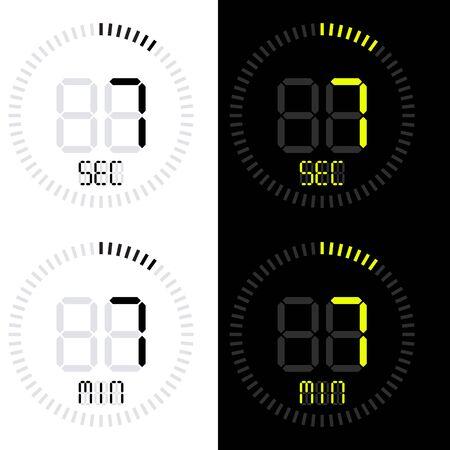 Digital stopwatch icon, vector