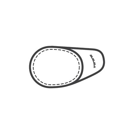 Eye Patch mask icon, Glasses Cover. Amblyopia icon 일러스트