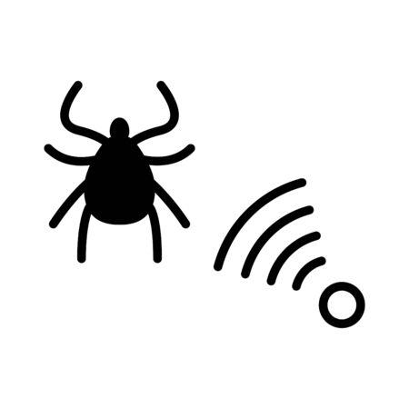 Repellent ticks icon, vector illustration Illustration