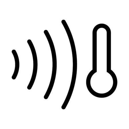 Temperature sensor icon, vector illustration