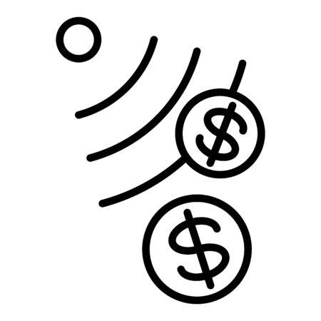 money sensor icon, vector illustration