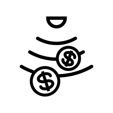 money sensor icon, vector illustration