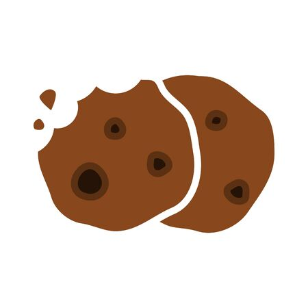 cookie icon, vector line illustration.