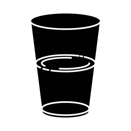 half full and half empty glass icon  イラスト・ベクター素材