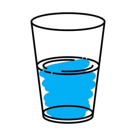half full and half empty glass icon  イラスト・ベクター素材