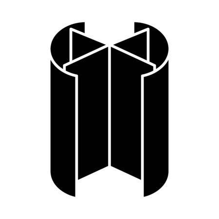 Revolving door icon, line vector illustration Illustration