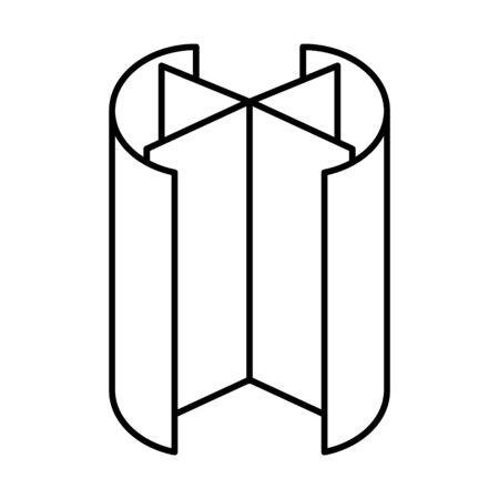 Revolving door icon, line vector illustration Ilustrace