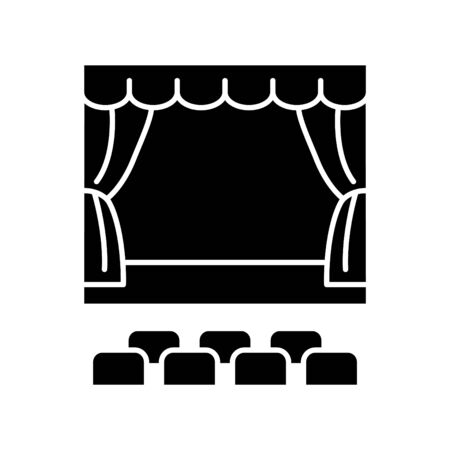 theater stage icon, vector illustration